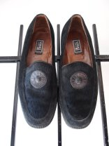 Vintage 1990s Street Chic Black Versace Classic V2 Calf Hair Creeper Loafer