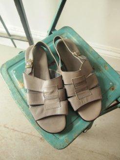Vintage Grey Leather Mens Strap Gladiator waRRIOR Sandal- THE EYE OF FAITH