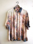 Vintage Mens Spray Bleached Mickey Mouse Summer Surf Beach Party Shirt