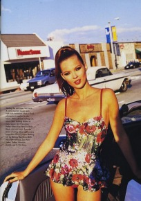 Editorial entitled The Rose Bowl, Vogue US 1995 April.