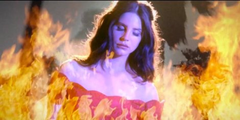 Lana Del Rey's vision of the west coast is on fire- Smells Like Teen Spirit Too- The Eye of Faith Vintage- Style Inspiration Blog