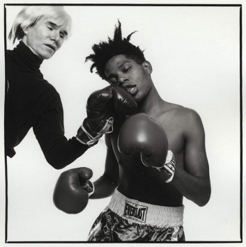 EOF STYLE IDOL- BASQUIAT TAKES A PUNCH FROM ANDY WARHOL