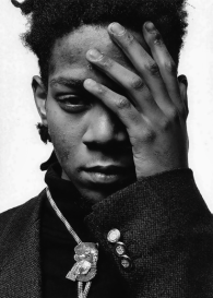 Portrait of Jean-Michel Basquiat by Jérôme Schlomoff © 1988, Paris