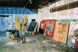 INSIDE BASQUIAT'S STUDIO- GLIMPSE INTO THE PAST- THE EYE OF FAITH