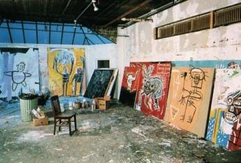 INSIDE BASQUIAT'S STUDIO- GLIMPSE INTO THE PAST- THE EYE OF FAITH