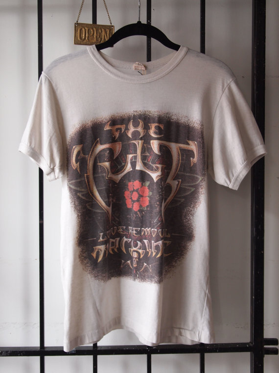 The Eye of Faith Vintage - Rare THE CULT Band 1987 Electric World Tour British Punk Goth Mystic Rock N Roll Canadian Soft Unusual Bad Ass Graphic Concert T-Shirt