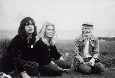 Good Company- Mick Jagger, Catherine Deneuve, Andry Warhol by Peter Beard- 1975