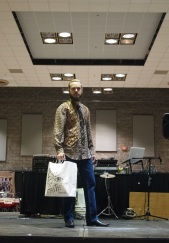 Top male model Evan P. in boho patterns by THE EYE OF FAITH