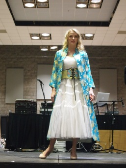 Grace T. is angelic in vintage/contemporary fusion created by the ladies of LOVE IN THE AFTERNOON
