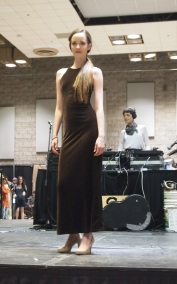 Siobhan M. is effortless in a gorgeous brown velvet festival maxi from THE EYE OF FAITH