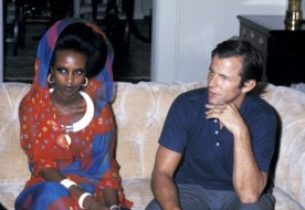 Peter Beard and Iman