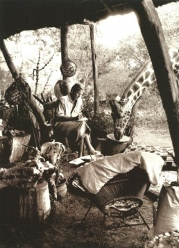 Peter Beard in Kenya