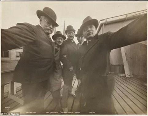 JAMES BYRON CLAYTON and FRIENDS - 1913 - eof selfie centered- vintage blog