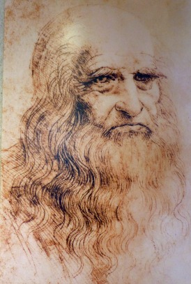 LEONARDO DA VINCI - SELF PORTRAIT- SELFIE CENTERED- THE EYE OF FAITH VINTAGE