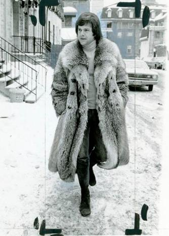 """A model wears an """"Arctic Long"""" mink coat in this Women's Wear Daily photo. Feb. 7, 1973. Morgue01"""