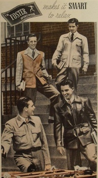 Foster Sportswear- 1940s Mens Fall:Winter Vintage Inspiration- The Eye of Faith Blog