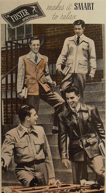 Foster Sportswear- 1940s Mens Fall:Winter Vintage Inspiration- The Eye of Faith Blog