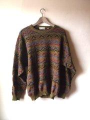 Kurt Cobain Vintage Style Inspiration - Alpaca Wool Oversized Graphic Grunge Sweater- The Eye of Faith Shop