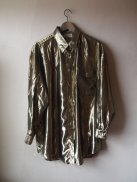 Kurt Cobain Vintage Style Inspiration - Rare Gold Metallic Foil Grunge Oversized Slouchy Party Top- The Eye of Faith Shop