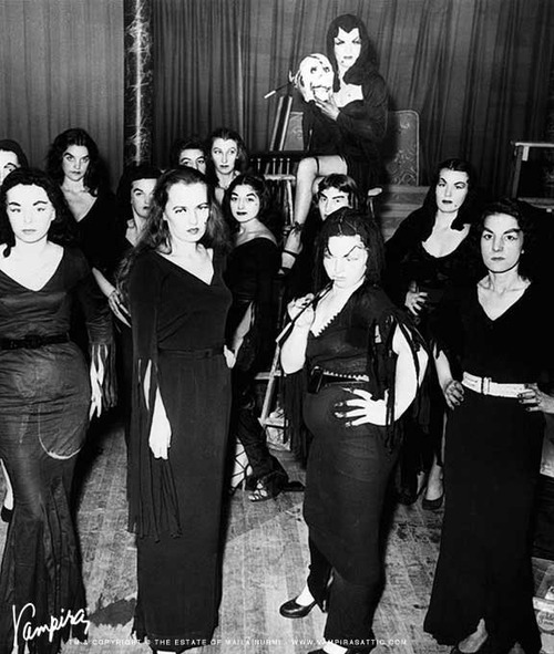 E.O.F. Snapshot of the Day - May 2, 2016- Vampire Lookalike Competition- circa. 1950s - Vintage Style Fashion Blog
