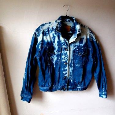 The Eye of FAITH Vintage- GUCCI Cruise 2017 Inspiration- Calvin Kleain Beached Denim Jacket