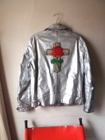 The Eye of FAITH Vintage- GUCCI Cruise 2017 Inspiration- Rosicrucian silver metallic motorcycle jacket