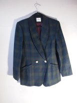The Eye of FAITH Vintage- GUCCI Cruise 2017 Inspiration- Single double-breasted green plaid blazer