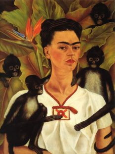 Frida Kahlo- Self Portrait with Monkeys, 1943