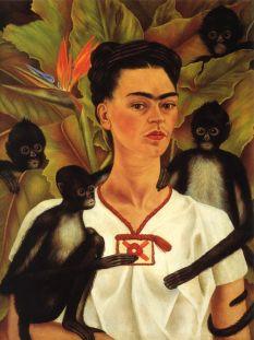 Frida Kahlo- Self Portrait with Monkeys, 1943