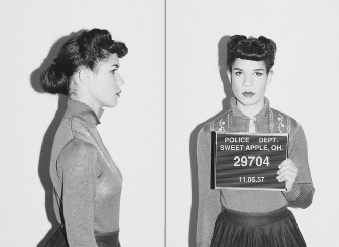 BAD GIRL BEAUTY Vintage Mugshot Makeup Hair Inspiration The - 15 vintage bad girl mugshots from between the 1940s and 1960s
