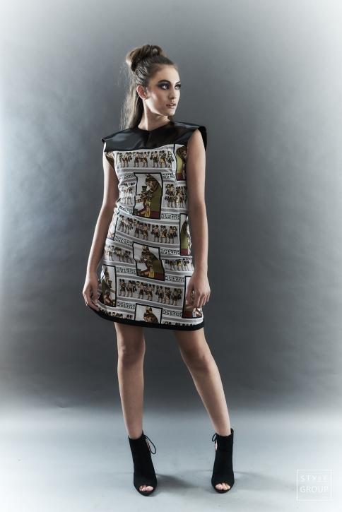 The Eye of Faith- Fashion Design- Hieroglyph Graphic Party Dress