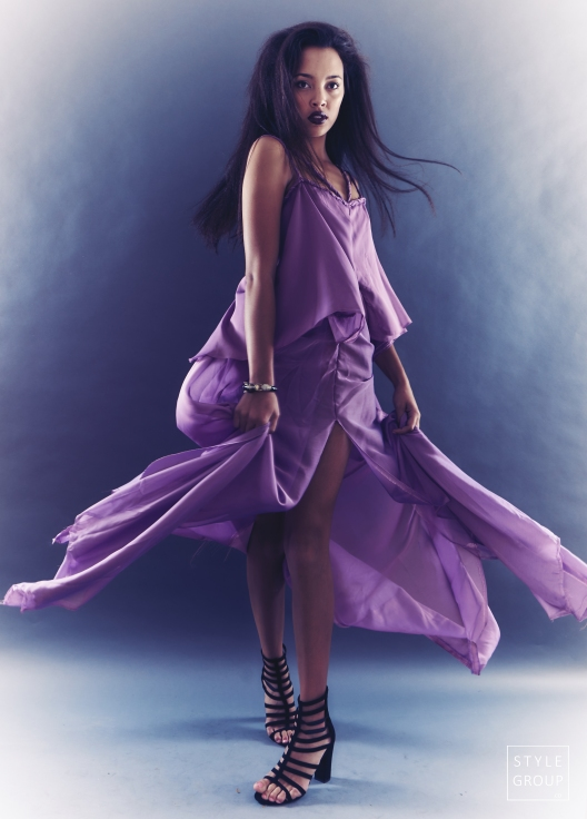 The Eye of Faith- Fashion Design- Lavendar Goddess Evening Dress