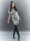 The Eye of Faith- Fashion Design- Metallic Silver Party Dress