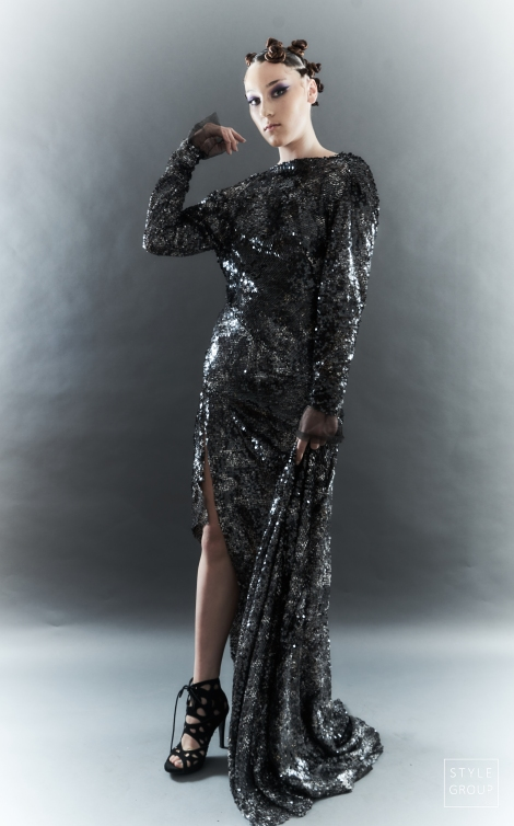 The Eye of Faith- Fashion Design- Serpent Sequin Evening Gown
