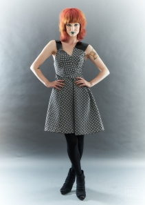 The Eye of Faith- Silver Metallic Graphic Party Dress