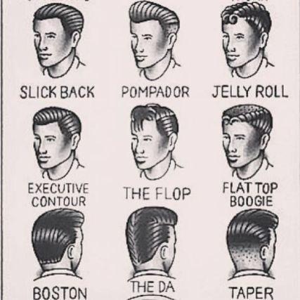35 VINTAGE MENS MUGSHOT HAIR INSPIRATIONS- The Eye of Faith Vintage Blog - 1950s Mens Hair Style Chart