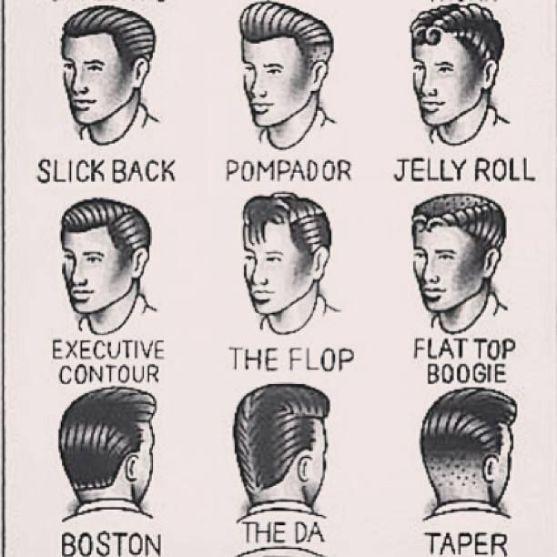 35 VINTAGE MENS MUGSHOT HAIR INSPIRATIONS- The Eye of Faith Vintage Blog - 1950s Mens Hair Style Chart