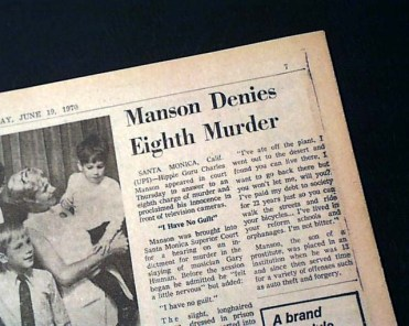 DING DONG CHARLES MANSON IS DEAD- THE EYE OF FAITH VINTAGE BLOG - HEADLINES 14