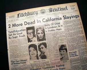 DING DONG CHARLES MANSON IS DEAD- THE EYE OF FAITH VINTAGE BLOG - HEADLINES 15