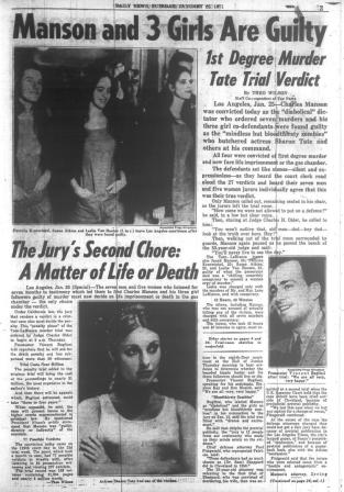DING DONG CHARLES MANSON IS DEAD- THE EYE OF FAITH VINTAGE BLOG - HEADLINES 19