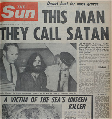 DING DONG CHARLES MANSON IS DEAD- THE EYE OF FAITH VINTAGE BLOG - HEADLINES 5
