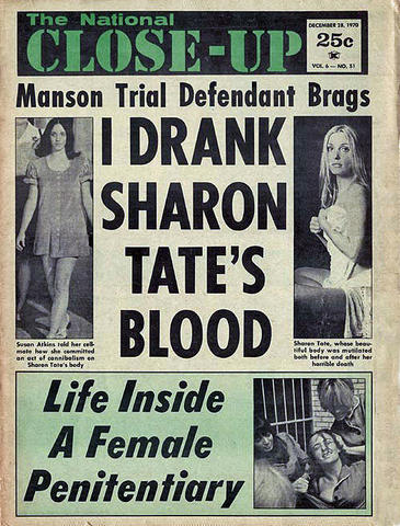 DING DONG CHARLES MANSON IS DEAD- THE EYE OF FAITH VINTAGE BLOG - HEADLINES 9