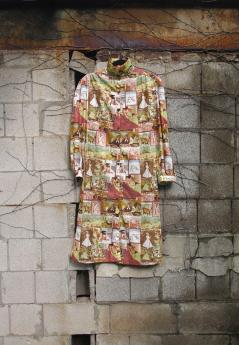 The Eye of Faith Vintage Blog Shop- 1970s Vintage Kama Sutra Graphic Print Tunic Long Shirt-1