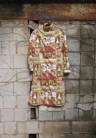 The Eye of Faith Vintage Blog Shop- 1970s Vintage Kama Sutra Graphic Print Tunic Long Shirt-1