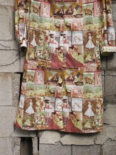 The Eye of Faith Vintage Blog Shop- 1970s Vintage Kama Sutra Graphic Print Tunic Long Shirt-4