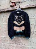 The Eye of Faith Vintage Blog Shop- Bad and Boujee- Luxe Oversized 1980s Vintage Mohair Black and Gold Metallic Sweater