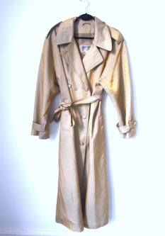 The Eye of Faith Vintage Blog Shop- Bad and Boujee- Wicked Oversized Metallic Gold Trench Coat Party Jacket
