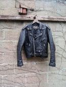 The Eye of faith Vintage Shop and Blog- Mens Vintage Rock N Roll Black Leather Motorcycle Jacket