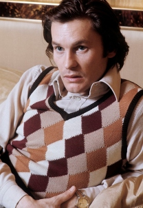 E.O.F. STYLE IDOL - HELMUT BERGER - THE EYE OF FAITH VINTAGE STYLE BLOG- Checkered Sweater Vest