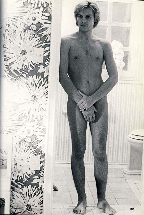 E.O.F. STYLE IDOL - HELMUT BERGER - THE EYE OF FAITH VINTAGE STYLE BLOG- Nude Dude